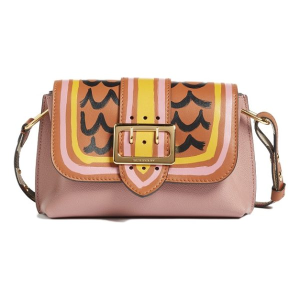 BURBERRY small medley shoulder bag - Painterly lines bedeck the top flap of a scene-stealing...