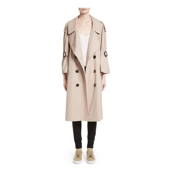 BURBERRY wakestone trench coat - Flared, cropped sleeves, elongated epaulets and oversized...
