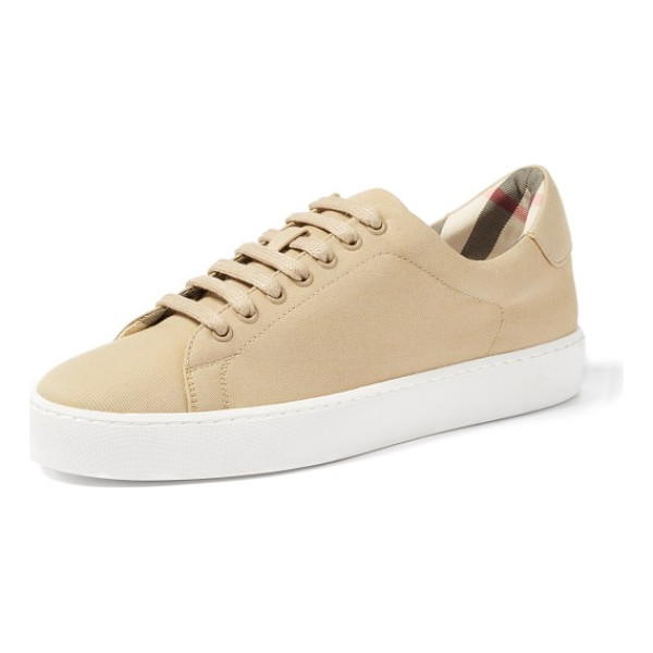 BURBERRY westford sneaker - Rich Burberry checks provide a sophisticated update to a...