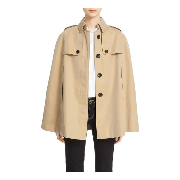 BURBERRY 'wolseley' cotton trench cape - The timeless trench takes new shape as an oversized...