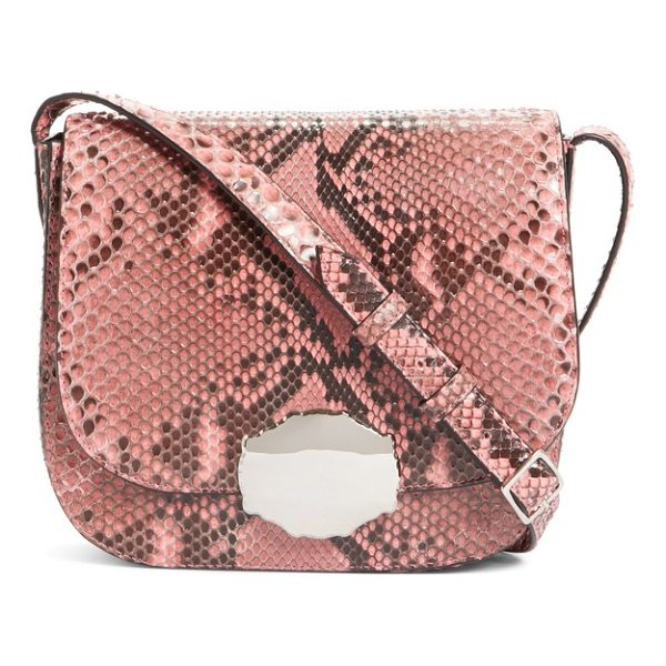 CALVIN KLEIN 205W39NYC calvin klein 205w395nyc genuine python shoulder bag - Silvery hardware and a blush pink hue add ladylike details...