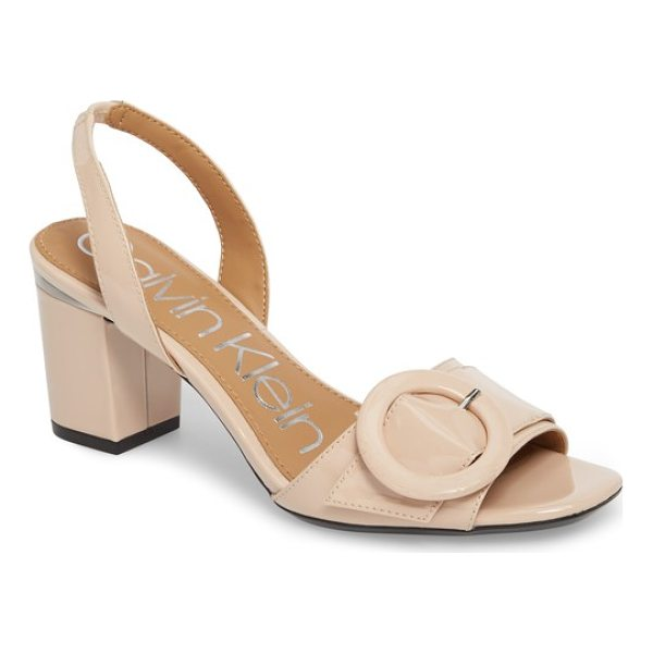 CALVIN KLEIN claudia slingback sandal - A ring-shaped buckle provides graceful counterpoint to the...