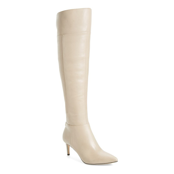 CALVIN KLEIN coletta over the knee boot - A pointed toe adds to the leg-lengthening effect of a sleek...