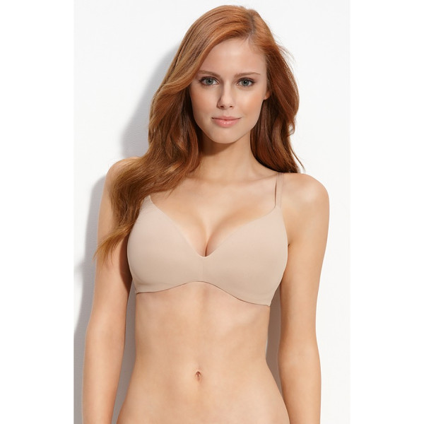CALVIN KLEIN 'f2781' soft cup contour bra - Convertible bra can hook to a racerback style and is...