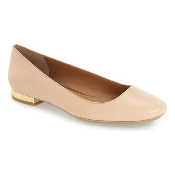 CALVIN KLEIN 'felice' flat - A chic, streamlined flat is styled with a slightly...