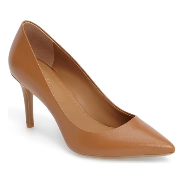CALVIN KLEIN 'gayle' pointy toe pump - The essential pointy-toe pump is primed to go from office...