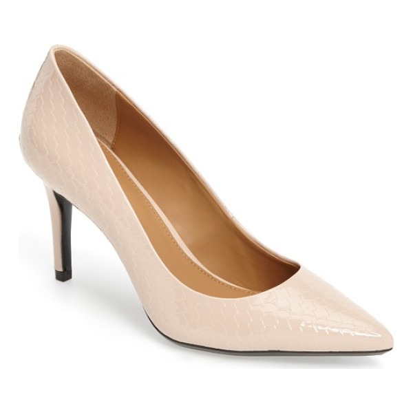 CALVIN KLEIN 'gayle' pointy toe pump - The essential pointy-toe pump is primed to go from office