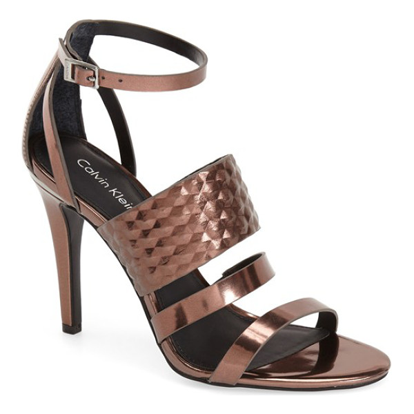 CALVIN KLEIN mayra cage sandal - A sophisticated, modern sandal finished with a slim ankle...