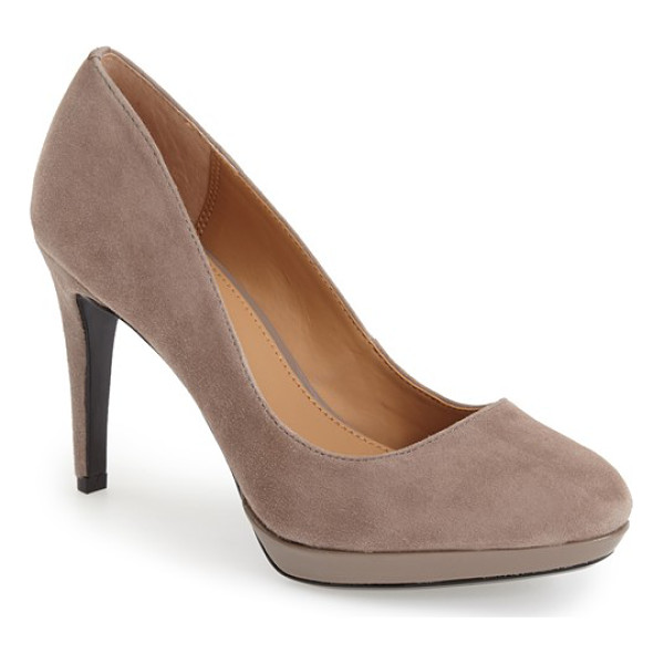 CALVIN KLEIN paulette platform pump - Perfectly poised to go from office to after hours, this...
