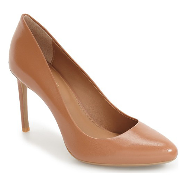 CALVIN KLEIN salene water resistant pump - This essential day-to-night pump is crafted with an almond