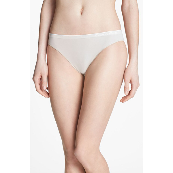 CALVIN KLEIN seamless bikini - The smoothly banded leg openings and logo waistband of a...