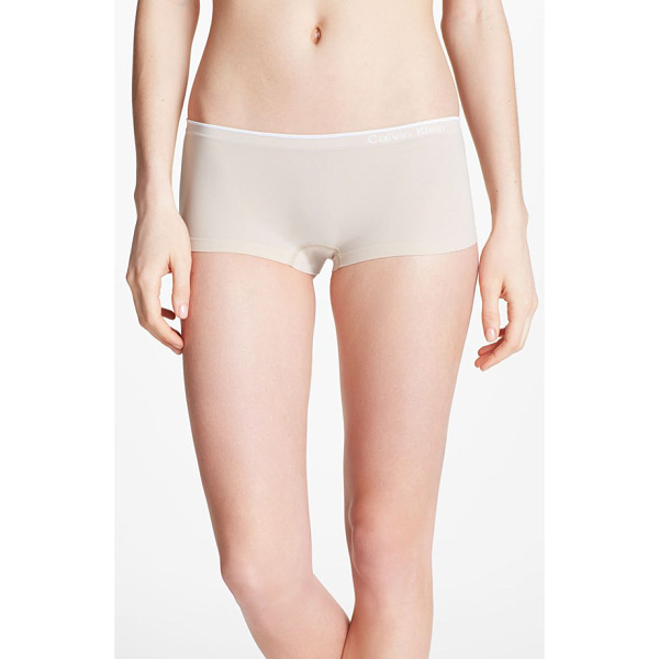 CALVIN KLEIN seamless hipster briefs - The smoothly banded leg openings and logo waistband of...
