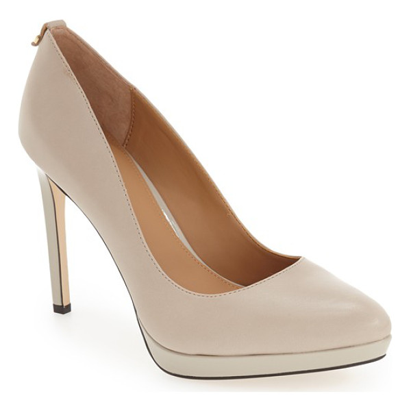 CALVIN KLEIN 'suzanne' platform pump - The essential pointy-toe pump is primed to go from office