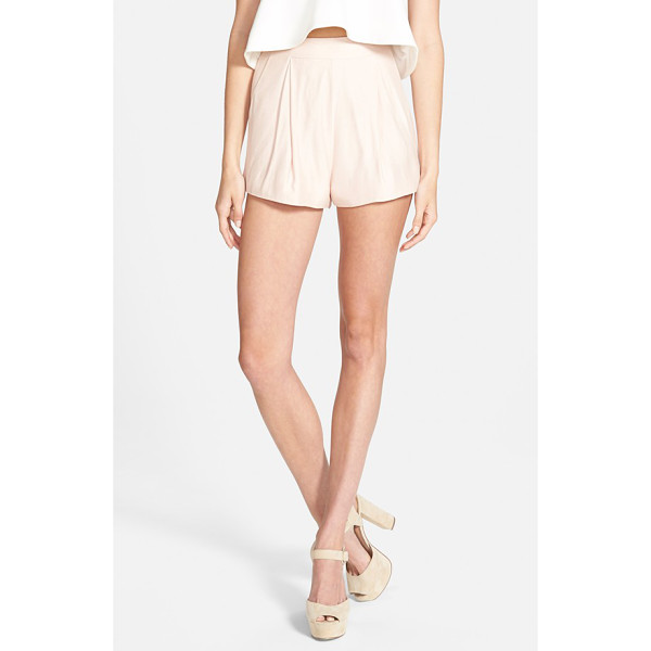 CAMEO begin again pleated shorts - Gentle pleats add dapper definition to supersoft high-rise...