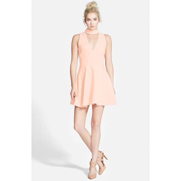 CAMEO begin again skater dress - A plunging neckline accented with a cute band collar...