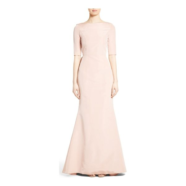 CAROLINA HERRERA draped v-back gown - Fashioned from rich silk faille, a statuesque gown is...