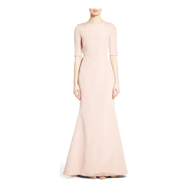 CAROLINA HERRERA draped v-back gown - Fashioned from blushing silk faille, a statuesque gown is...