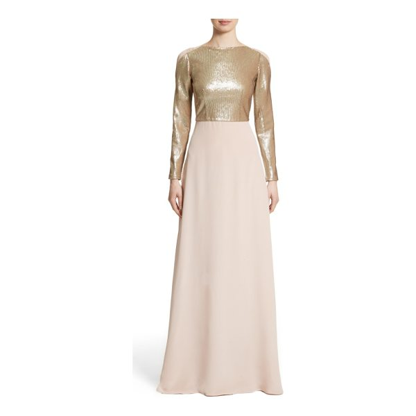 CAROLINA HERRERA sequin front a-line silk gown - Carolina Herrera brings a new sleekness to her...