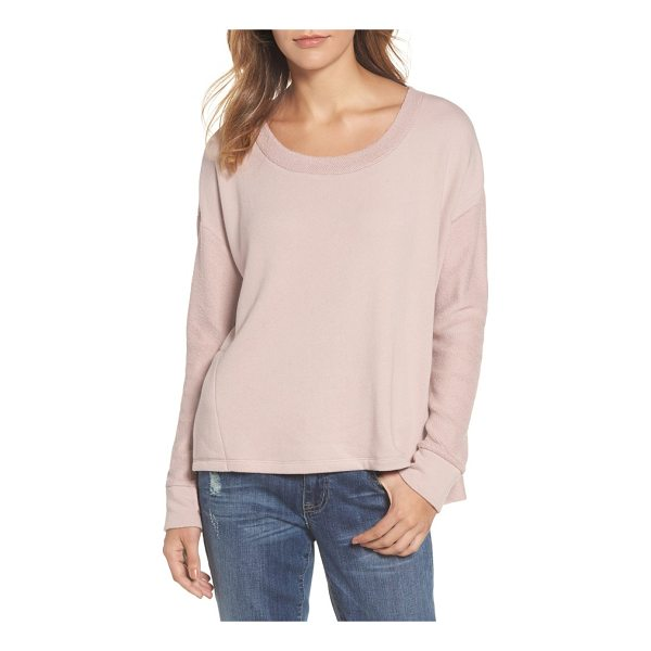 CASLON caslon relaxed sweatshirt - Dropped shoulder seams and a split high-low hem add to the...