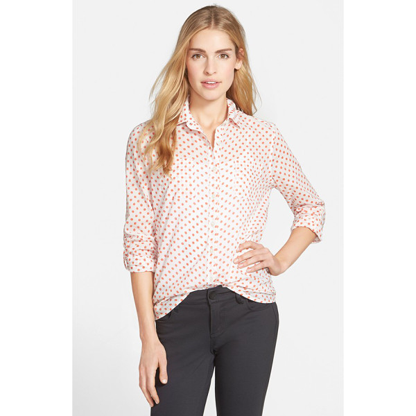 CASLON long sleeve shirt - Lightweight cotton-blend is tailored with classic styling...