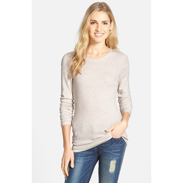 CASLON long sleeve scoop neck cotton tee - A wardrobe staple for transitional weather is cut from a...