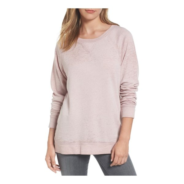 CASLON caslon burnout sweatshirt - Lightweight burnout knit updates a classic raglan-sleeve...
