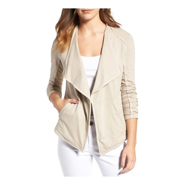 CASLON caslon drapey knit jacket - Raw-edge exposed seams bring a nonchalant, deconstructed...