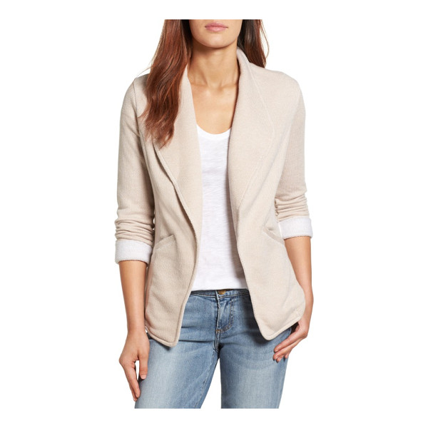 CASLON caslon knit blazer - Classic blazer styling hits a more casual note in a soft...