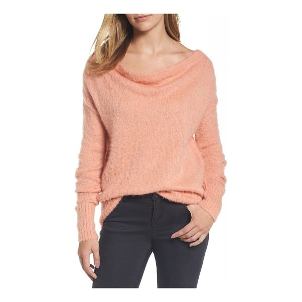 CASLON caslon long sleeve brushed sweater - This cozy wool-blend pullover boasts a drapey scooped neck...