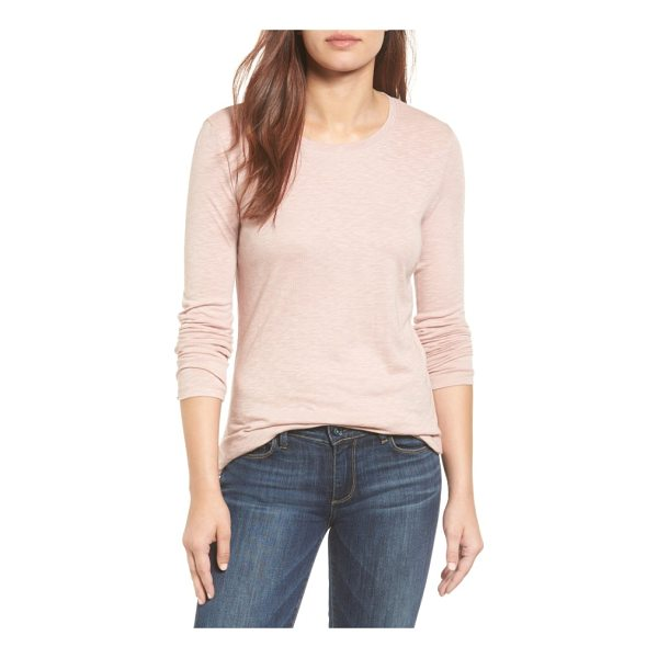 CASLON caslon long sleeve crewneck tee - A wardrobe staple for transitional weather is cut from a...