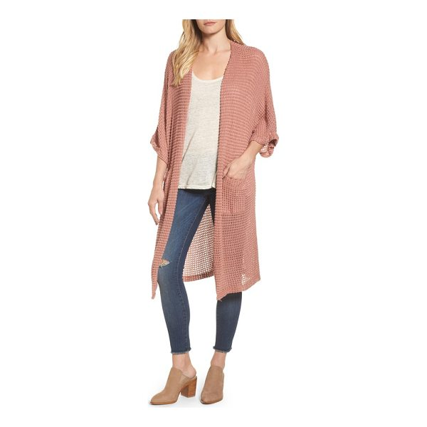 CASLON caslon long textured knit kimono cardigan - Feel like you're lounging all day long in this drapey cardi...