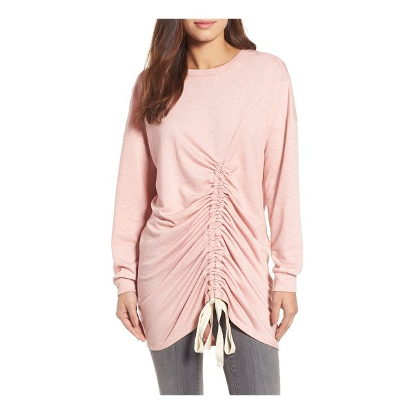 CASLON caslon ruched front tunic - Ripples of ruching down the front created with drawstring...