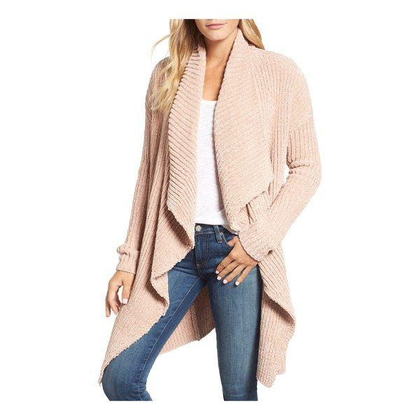 CASLON caslon long sleeve chenille cardigan - This cozy chenille cardi is fashioned with thickly ribbed...
