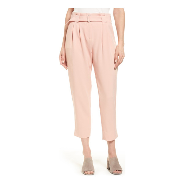 CATHERINE CATHERINE MALANDRINO arturo belted crop pants - A pleated paperbag waist creates a slimming look and...