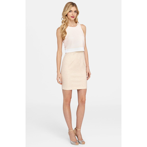 CATHERINE CATHERINE MALANDRINO styles mock two-piece dress - Get the trend-right look of a cropped top and slim skirt...