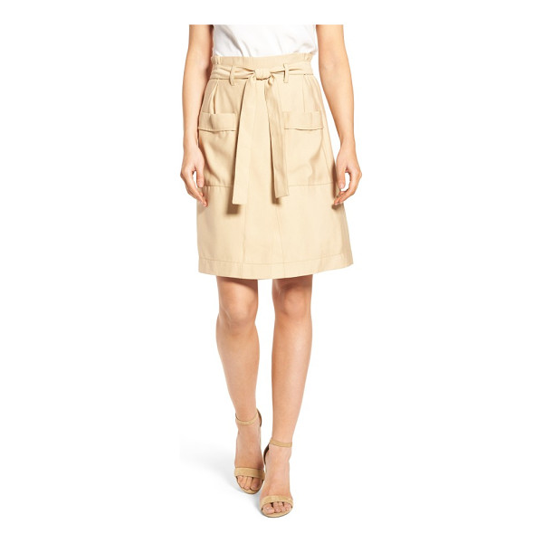 CATHERINE CATHERINE MALANDRINO tyra belted skirt - The skirt version of summer chinos is just as easygoing in...