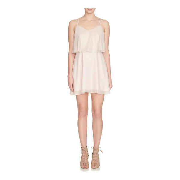 CECE BY CYNTHIA STEFFE monroe strappy woven popover dress - Glimmering georgette flutters in tiers on a well-balanced...