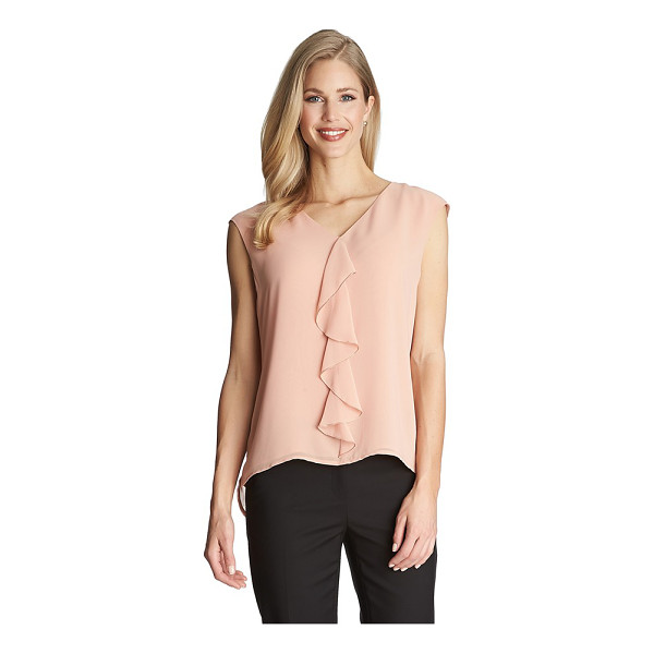 CECE BY CYNTHIA STEFFE ruffle front v-neck blouse - A soft ruffle cascades elegantly down the front of a soft...