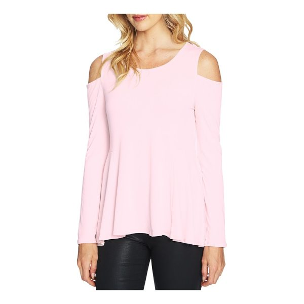 CECE BY CYNTHIA STEFFE cold shoulder swing top - This flirty crepe blouse features a swingy hem and...