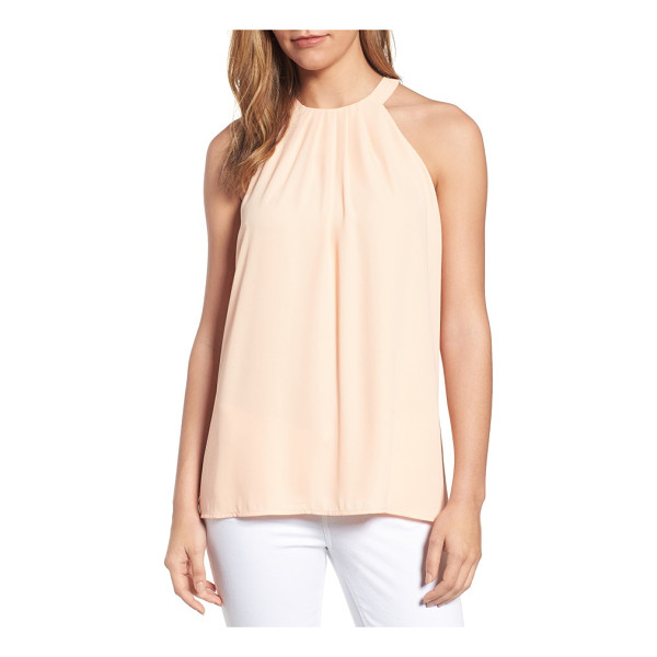 CECE BY CYNTHIA STEFFE pleat halter style blouse - Neat pleats radiate from the slim halter neckline of a...