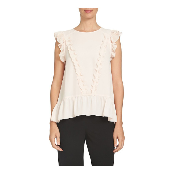 CECE BY CYNTHIA STEFFE ruffled cap sleeve blouse - Frothy ruffles from shoulder to hem add fresh charm to a...