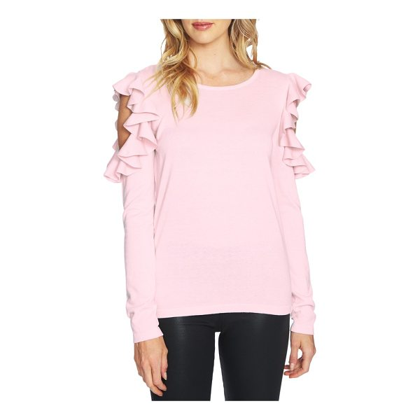 CECE BY CYNTHIA STEFFE ruffled cold shoulder sweater - Decadent ruffles circle the exposed shoulders of this...