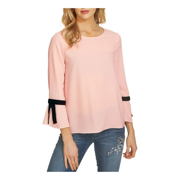 CECE BY CYNTHIA STEFFE tie bell sleeve blouse - Ready to pair with workday essentials or weekend denim, a...