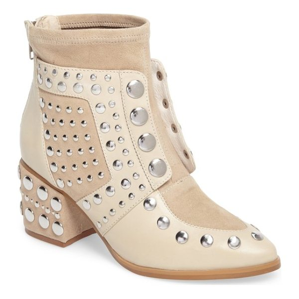 CECELIA NEW YORK michael studded boot - Smooth rounded studs punctuate the vamp and covered block...
