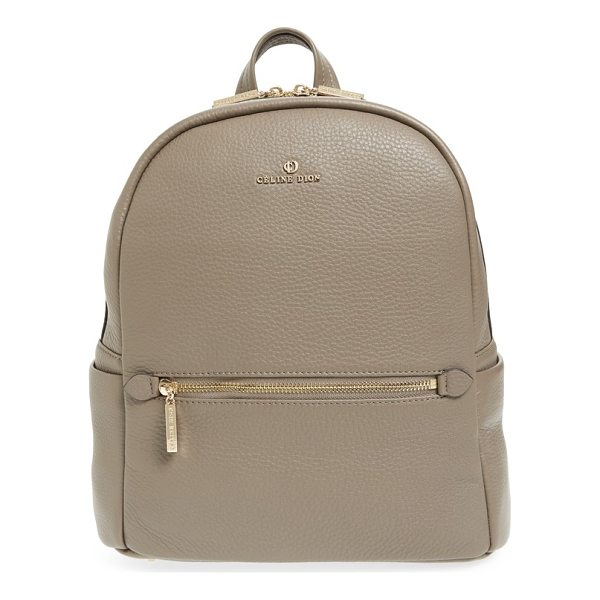 CELINE DION adagio leather backpack - Clean, contemporary style is the name of the game with this...