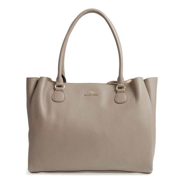 CELINE DION adagio leather tote - Pebbled leather adds texture to this sleek tote perfect for...