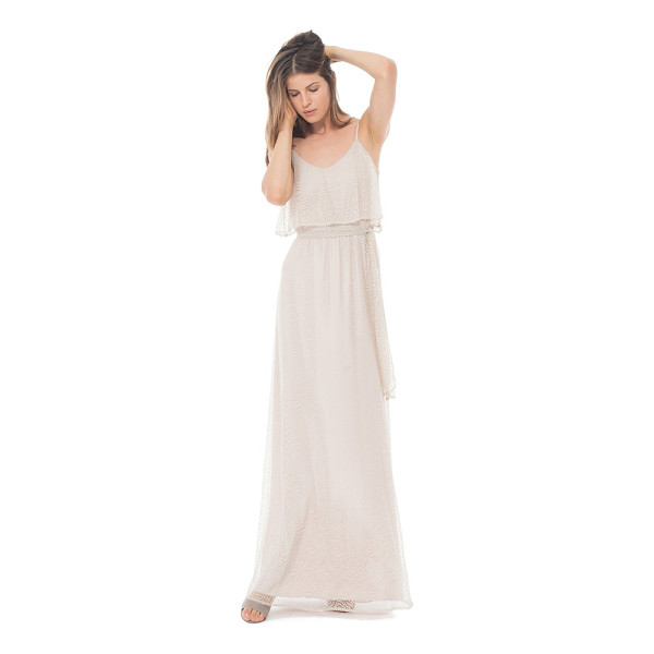CEREMONY BY JOANNA AUGUST 'dani' popover bodice lace maxi dress -
