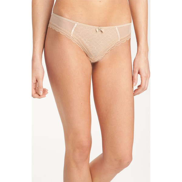 CHANTELLE c-chic sexy brazilian panties - A diminutive bow with a rhinestone accent adds sweet detail...