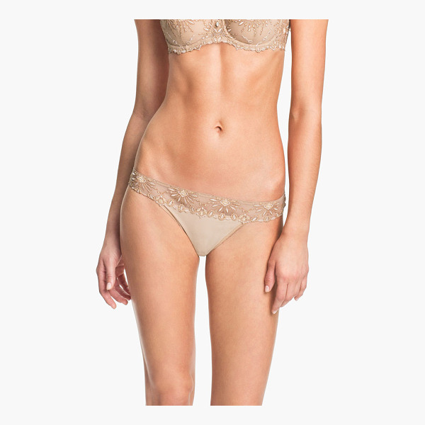 CHANTELLE vendome tanga - Embroidered starbursts pattern the sheer waistband of an...