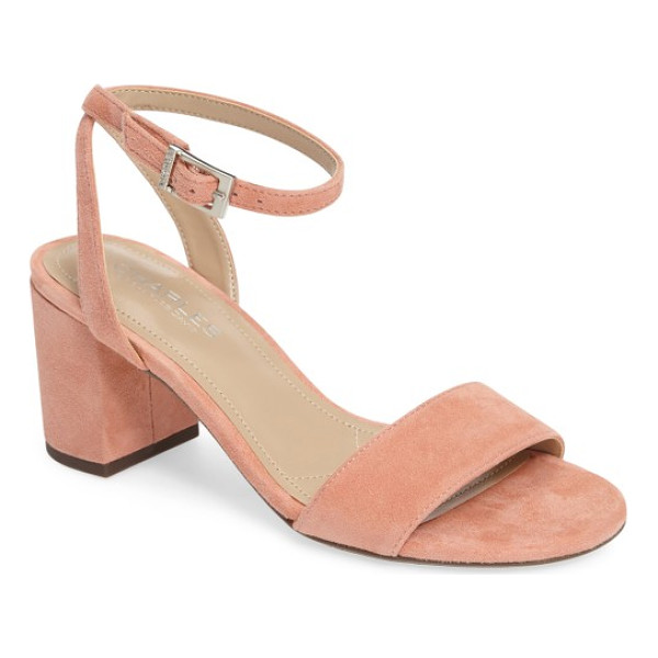 CHARLES BY CHARLES DAVID keenan sandal - A delicate, floating ankle strap balances the bold, chunky...